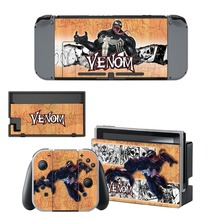 Spiderman and Venom Decal Vinyl Skin Sticker for Nintendo Switch NS Console + Joy-Con Controller + Dock Station