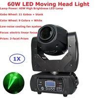 Купить с кэшбэком New Arrival 60W LED Moving Head Spot Stage Lighting 10/12 DMX Channel High-Quality 3 Facet Prism Led Moving Disco DJ Lights