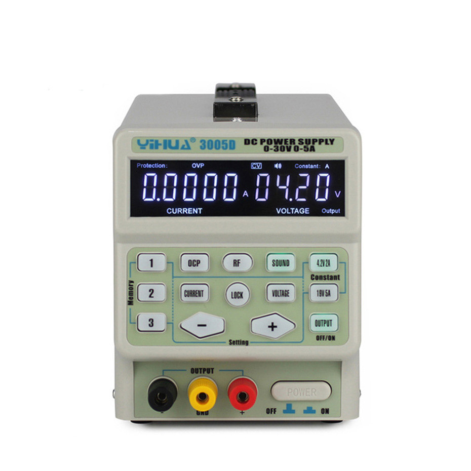 Image 2 - YIHUA 3005D DC Power Supply Digital program control 30V 5A Precise adjustment mobile phone signal test function DC Power Supply-in Voltage Regulators/Stabilizers from Home Improvement