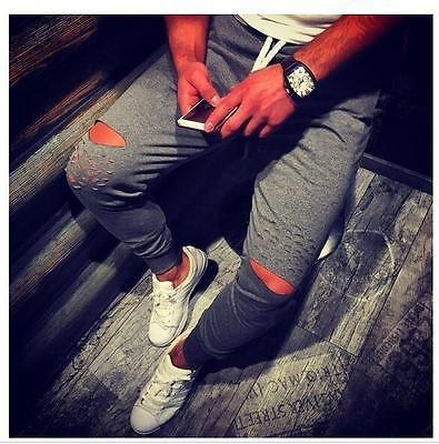 Mens BASIC JOGGER Pants Fleece Active Urban Harem Slim Fit Elastic Hip hop Dance