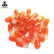Automobiles Motorcycles - Car Lights - 100pcs T10 W5W W3W Amber Color 12V 3W Wedges Car Light Source Instrument Lights Halogen Lamp OEM Quality CP043