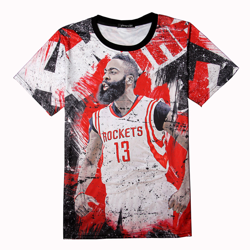 96b9b89f41e7 T Shirt Kyrie Irving Jersey Steph Curry 3d Print Basketball Super Stars Tees  Tops Lebron Westbrook Tshirt Brand Quality T-shirts