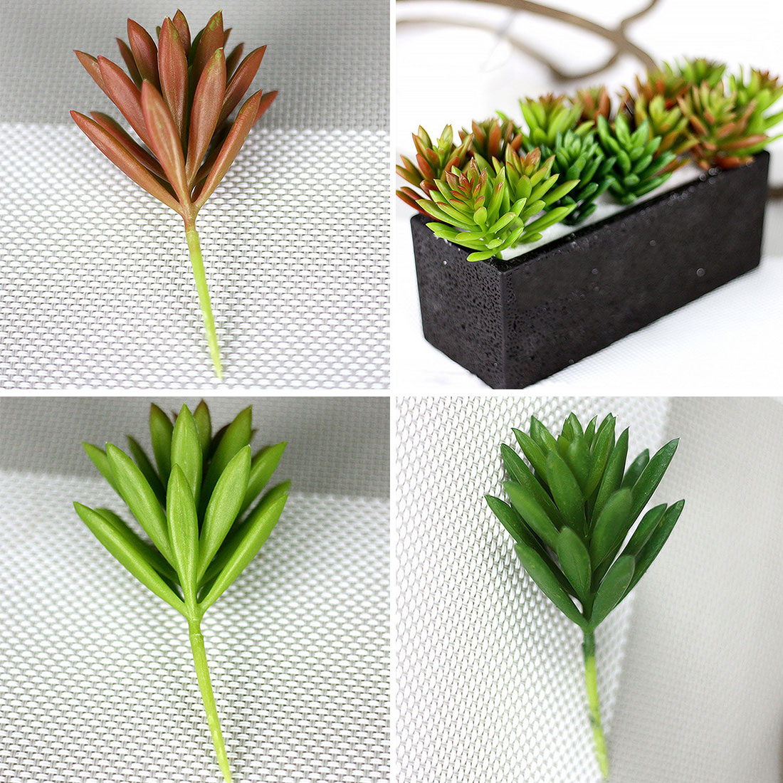 gift box 1pc artificial plants succulents lotus grass leaves