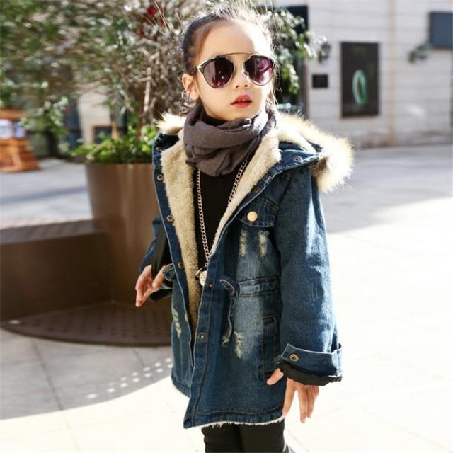 b14ebcd801053 Nouvelle Marque 2017 Enfants D hiver Veste Manteau Pour Filles De Mode Plus  Épais Velours