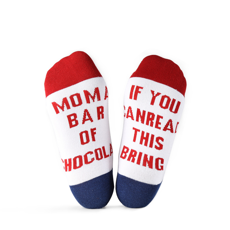 VVQI Harajuku Hip Hop Wine Socks Men Women IF YOU CAN READ THIS Letter Funny Socks Striped Novelty ankle socks streetwear gift