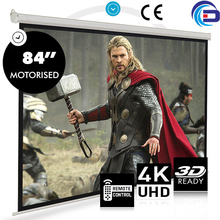 On sale! 84″ 16:10  HD Electric Projection Screen with Remote Controller Pantalla proyector Motorized Projector Screen