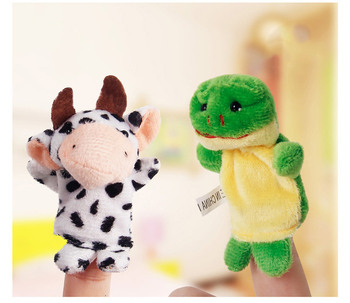 10pcs/Lot Cartoon Animal Velvet Finger Puppet Finger Toy Finger Doll Baby Cloth Educational Hand Story Baby Toy 4