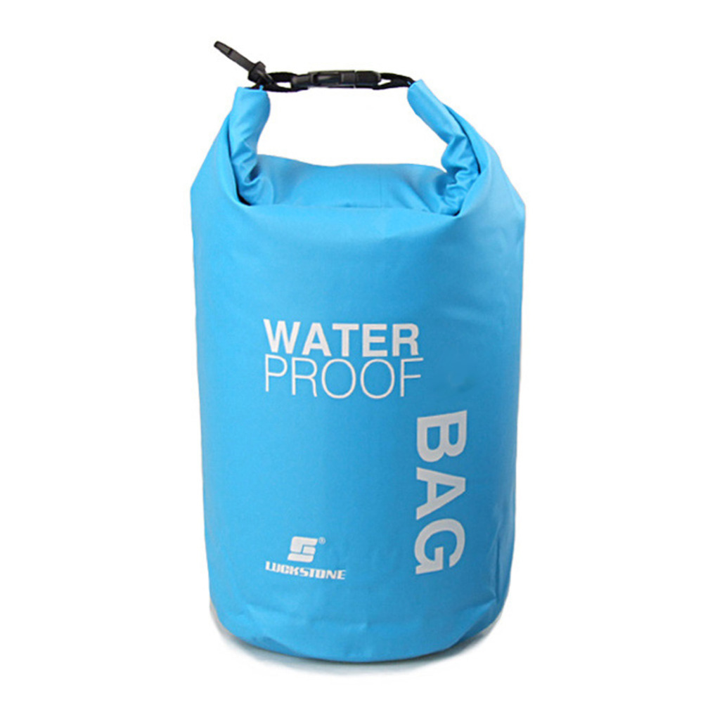 2L Portable Waterproof Backpack Dry Bag Ultralight Outdoor Floating Boating Kayaking Rafting Laundry Bag for Camping Hiking prop