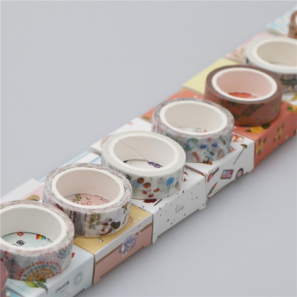 Diy Scrapbooking 15mm 7 M Bonito Kawaii Flores Dos Desenhos Animados Fita Washi Mascaramento Fita Adesiva Decorativa Decor Good Taste Tapes, Adhesives & Fasteners Office Adhesive Tape