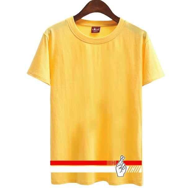 ... Fashion summer short sleeve o neck t shirt men women kpop ikon japan  concert same printing ... 84574c5bcd48