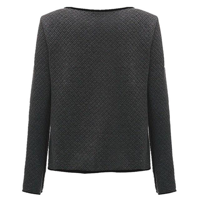 plus size s-4xml Women Jacket 2017 Spring Autumn Women Basic Jacket Long Sleeve Pockets Slim Short Cardigan Coat Casual Outwear 3