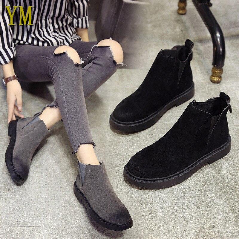 Botas Mujer Tobillo 2019 Zapatos De Cuadrado Invierno 40 Calzado Chelsea Resbalón Botines Black 35 Tacón Llegada Goma black grey Banda Winter En Elástica fqFn7Yq