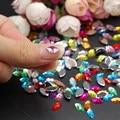 Nueva Moda 3D Color Mezclado Caballo Joya Ojos Glitters Rhinestones de Acrílico Nail Art Puntas de DIY Decoración Manicura 200 unids
