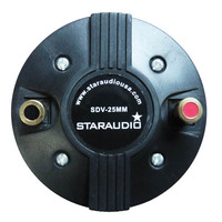 STARAUDIO 25MM 1000W 8 Ohms Titanium DJ Compression Screw On Horn PA Powered KTV Active Audio Speaker Driver Tweeter SDV 25MM