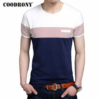 HS Cotton T Shirt Men 2016 Summer New Short Sleeve T Shirt Fashion Striped Gentleman Top