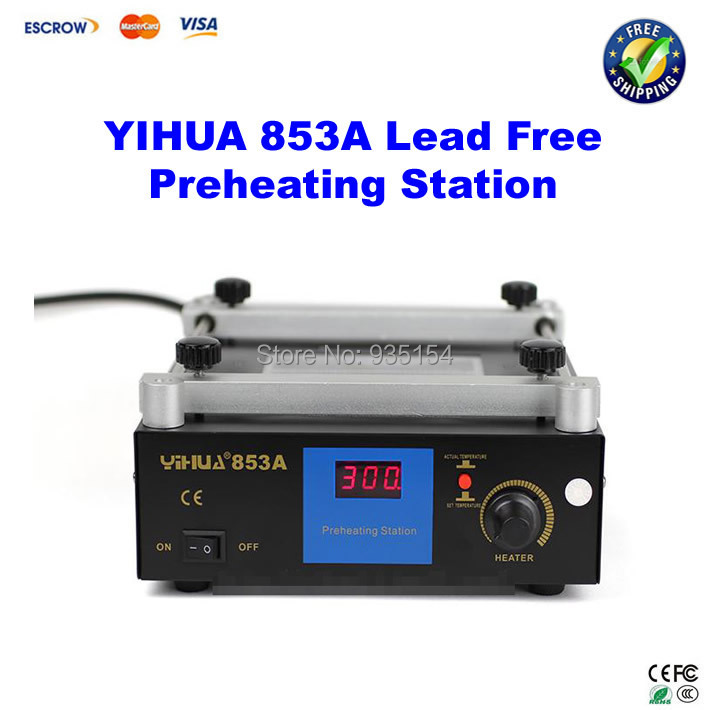 YIHUA 853A Lead Free Preheating station, Motherboard BGA Preheating machine Preheater Soldering Station 853a bga constant temperature lead free preheating stations