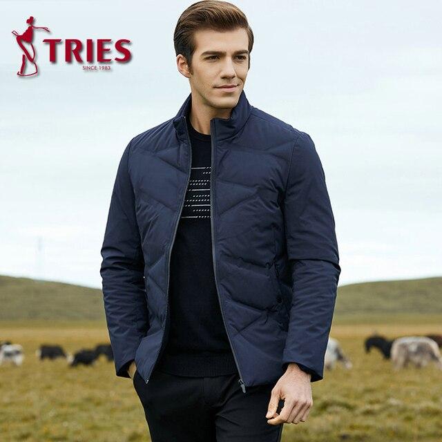 TRIES duck down jacket men winter coat men Brand mens down jacket lightweight down jacket for men Casual Outerwear mens clothing