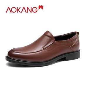 Image 2 - AOKANG 2019 moda biznes sukienka męskie buty eleganckie formalne buty ślubne mężczyźni Slip On chaussures hommes en cuir