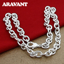 925 Silver Simple Lobster Necklaces Chains For Women Men Fashion Jewelry unisex necklaces 925 silver lobster clasp necklaces for women men fashion jewelry