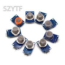 MQ-2 MQ-3 MQ-4 MQ-5 MQ-6 MQ-7 MQ-8 MQ-9 MQ-135 детектор дыма метана сжиженный газ Сенсор модуль для Arduino стартер