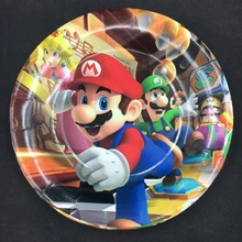 6pcs 7inch Super Mario design Paper Plates for Kids Birthday Party Decoration Supplies Diameter 18cm