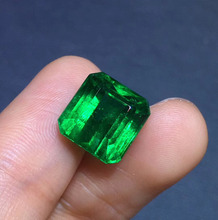 Collection Gemstone GRS Cert Jewelry 7.03ct Faceted Vivid Green Natural Emerald Gemstones Loose Gemstones Loose Stone Gems