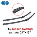 Top quality 24 ''15'' oge limpadores de carro para nissan qashqai 2007 2013 2008 2009 2010 2011 2012 Par de Borracha Natural Auto Acessórios