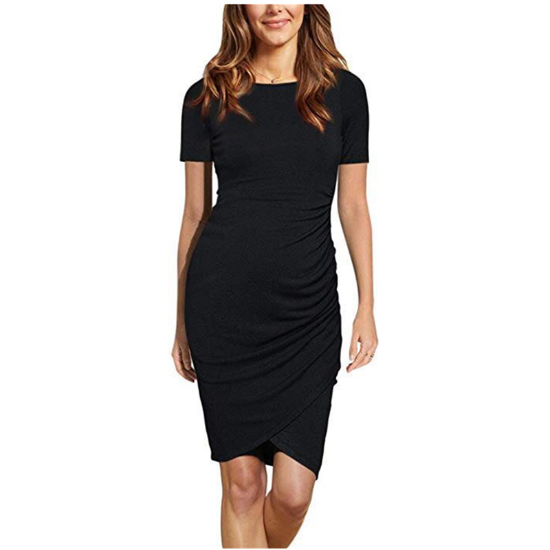OKLADY 2019 Summer Pregnant Women Dress Irregular Solid Pregnancy Dresses Maternity Tank Formal Birthday Party Clubbing