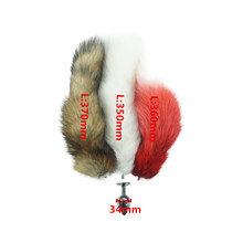 Fox tail 3 size anal plug for choose Metal Butt plug Role Play Flirting Fetish new sex Toy for women