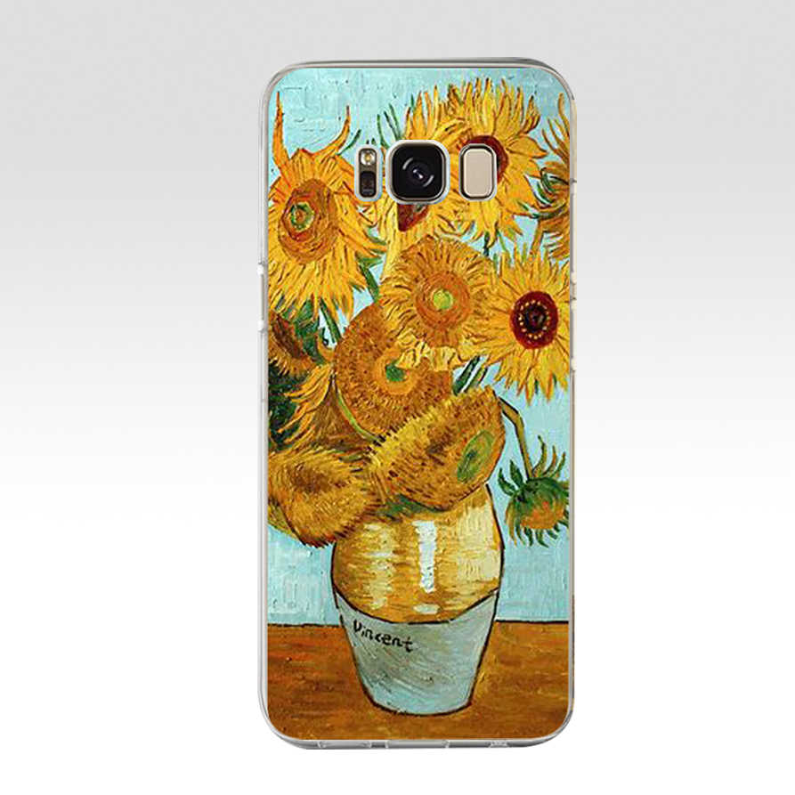 114 ZX Van Gogh TPU Silicone Souple étui pour samsung Galaxy s6 s7 bord S9 S8 S10 Plus Couverture de Téléphone Capa Capinha