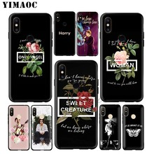 One Direction Tattoos Harry Styles Soft Case for Xiaomi Redmi Note 7 6 6A 5 4 4X 4A 5A S2 Redmi 7A GO K20 Plus Pro(China)