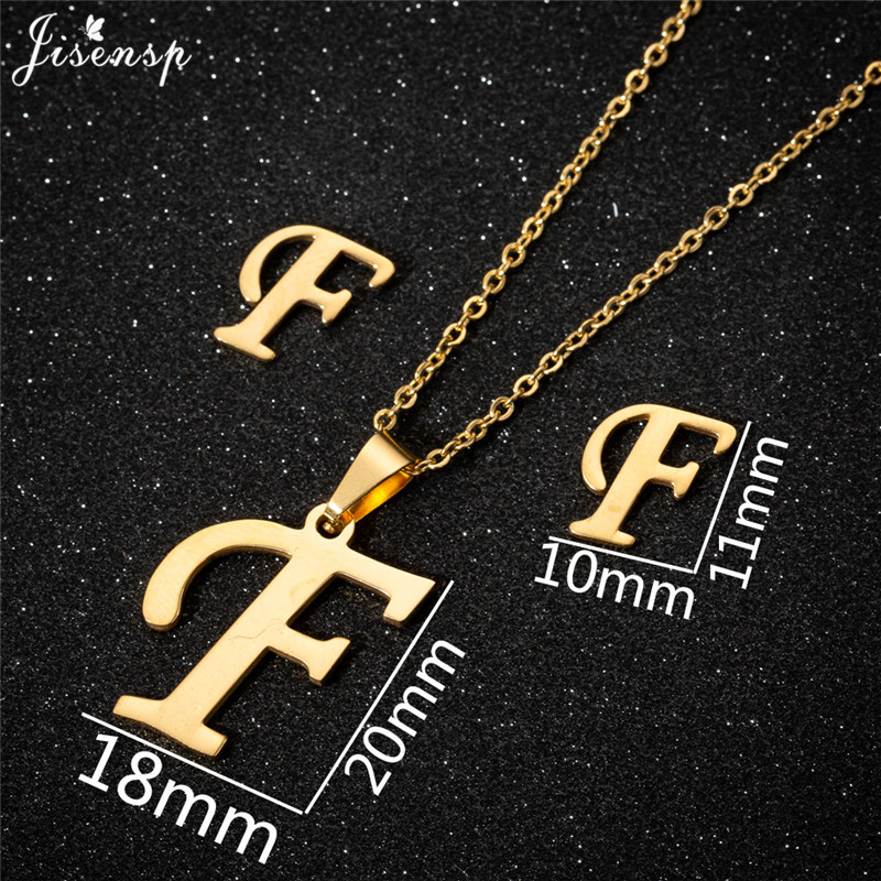 Jisensp Personalized A-Z Letter Alphabet Pendant Necklace Gold Chain Initial Necklaces Charms for Women Jewelry Dropshipping 12