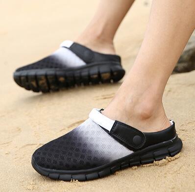Nuevo Diseño Unisex de Malla Transpirable Sandalias de Tacón Plano 2017 del Verano Sandalias Casuales Parejas Hombres Flip Flop Zapatillas de Playa