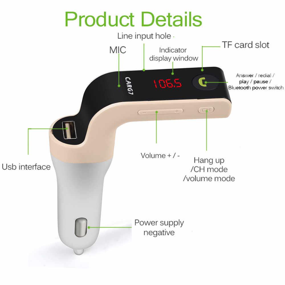 USB TF tarjeta soporte cargador inalámbrico Bluetooth coche Kit LCD manos libres FM Transmisor MP3 reproductor de música teléfonos móviles tabletas Dsp