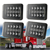 5D Lens 48W Newest 4x6 Inch LED Headlights For Freightliner Kenworth Peterbilt International Volvo Sterling Western