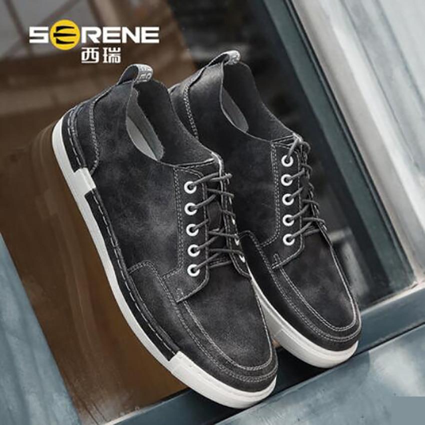 portant Respirant Dur Style Microfibre Beau Hommes Black Chaussures brown Casual Gris À D'été Coudre Noir De Fil Brun New gray Original UMVzqSp