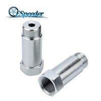 ESPEEDER 1 قطعة الأوكسجين الاستشعار امدا O2 M18 x1.5 تمديد موسع فاصل العادم الفضة-في استشعار الأوكسجين بغاز العادم من السيارات والدراجات النارية على