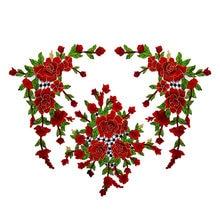 3 Pçs/set Multicolor 3D Flores Bordadas Applique Patches Sew On para Roupas DIY Applique Vestuário Patches Bordados LSHB740