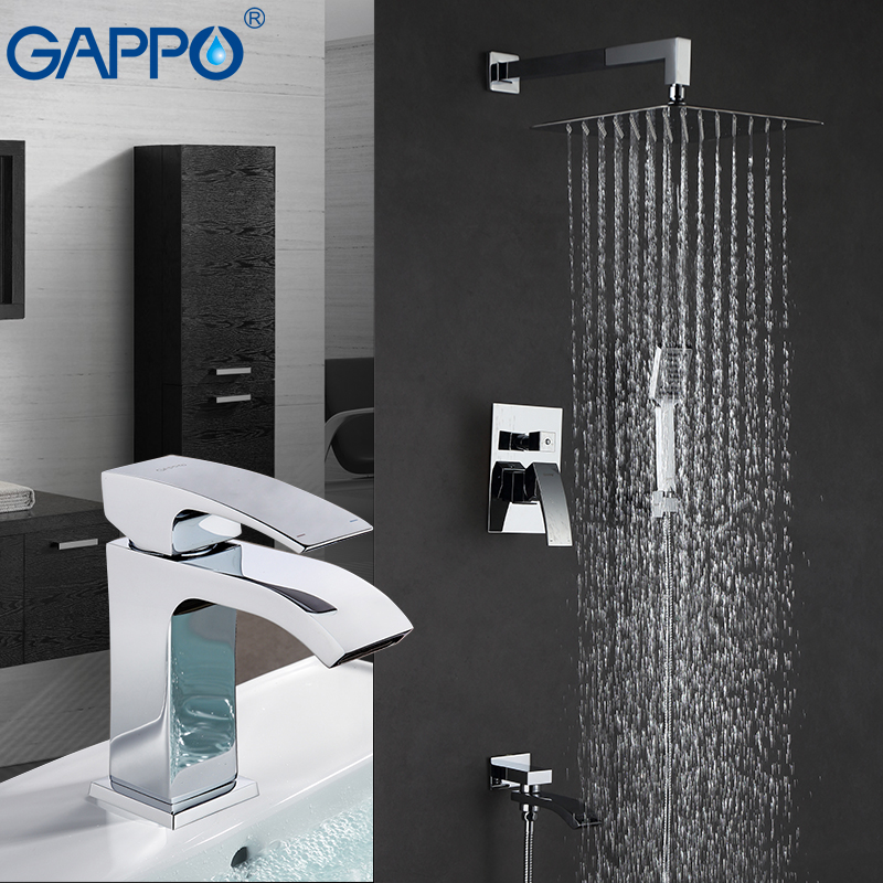 GAPPO Shower Faucets shower tap mixer bath shower head basin faucet waterfall mixer tap faucet shower