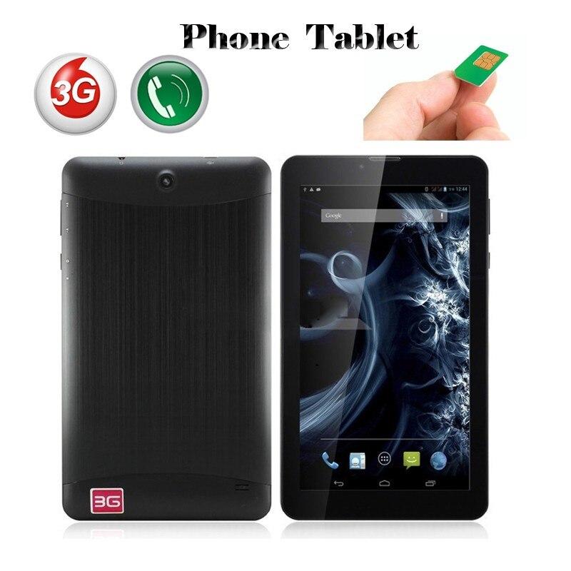 7 ''super Slim 3g Dual Sim Karten Anruf Tablet Pc Mtk6572 1024*600 Entsperrt Gps Bluetooth Gps + Taschenlampe Freies Verschiffen Klar Und GroßArtig In Der Art