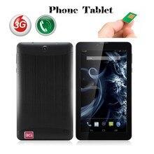 7'' Super Slim 3G Dual sim cards phone call Tablet pc MTK6572 1024*600 Unlocked GPS Bluetooth GPS +Flashlight Free shipping