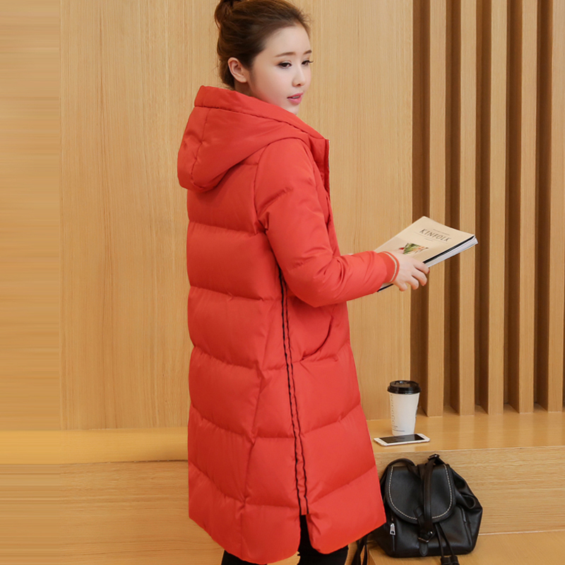 Winter Of 2017 New Women's Casual Hooded Jacket Fashion Korean Thick Slim Tide Wide-waisted Casual Long Women's Winter Jacket