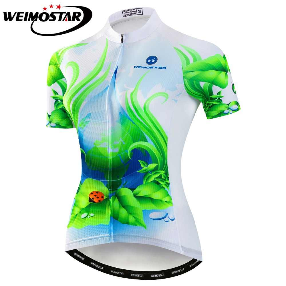 Cycling Jersey Women Bike Shirt Pro Road MTB Bicycle Clothing Short Sleeve Maillot  Ropa Ciclismo Female 5ede7296c