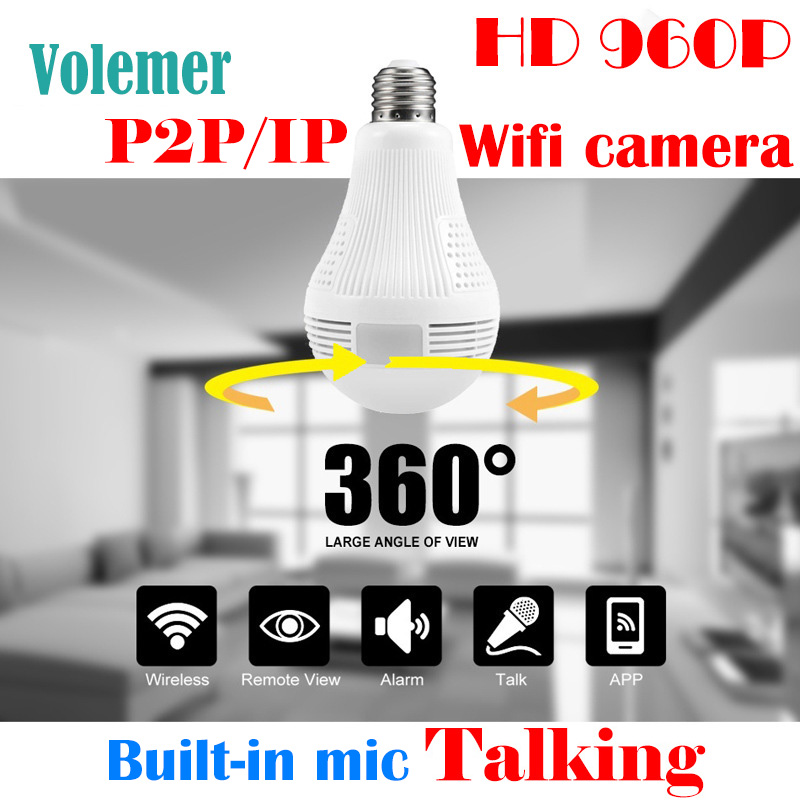 Volemer 360 angle camera wifi store Security shop CCTV motion detection IP P2P Cam 360 D ...