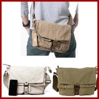 100% Canvas Cotton bag 2015 women men's travel bags vintage fashion casual men messenger bags wholesale price Free Shipping 2371