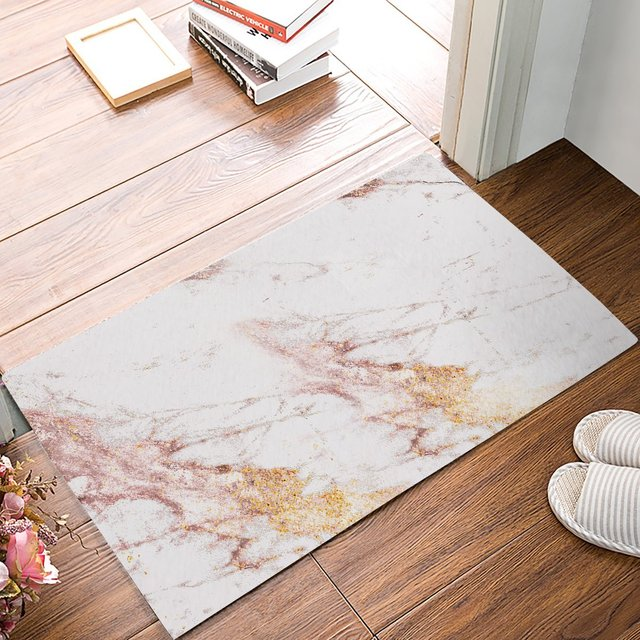 Modern Rose Gold Marble Triangle Door Mats Kitchen Floor