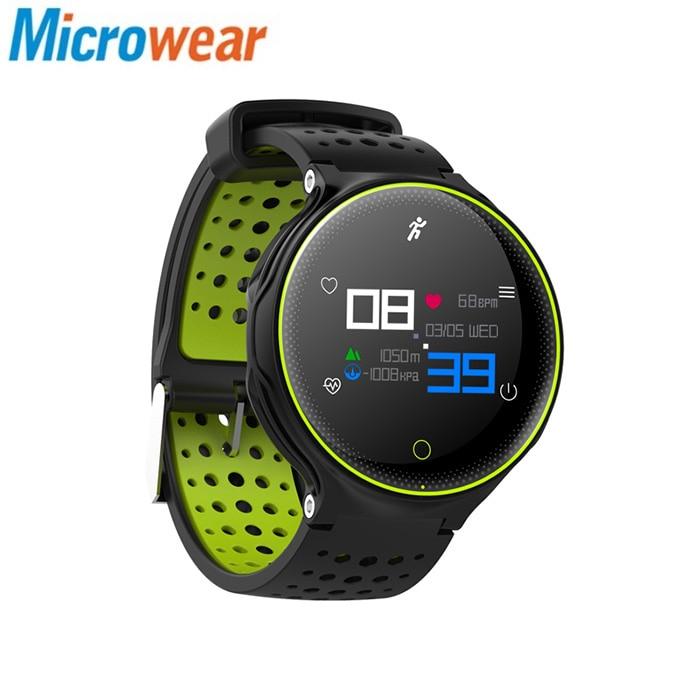 Microwear X2 Plus Smart Watch Bluetooth 4.0 IP68 Waterproof Touch Key Sedentary Reminder Sleep  Heart Rate Monitor Pedometer