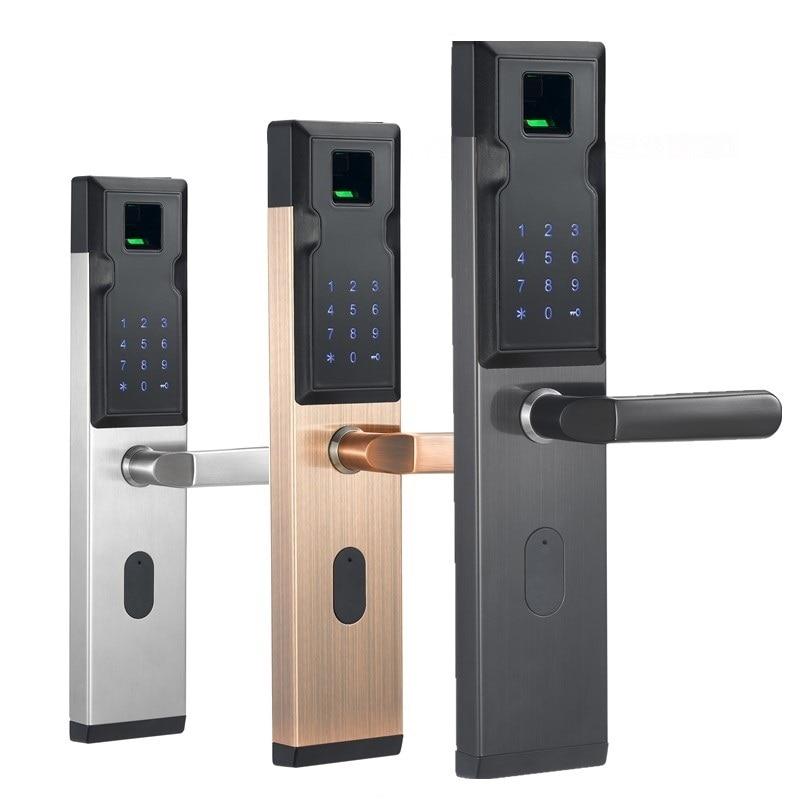 Handle Electronic Smart Cylinder Lockset Entrance Door Interlligent Lock Fingerprint Password Lock