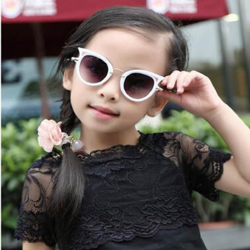 2019 Children sunglasses cat eye vintage kids girls Boys Cute Eyewear Shades Goggles UV400 in Sunglasses from Mother Kids