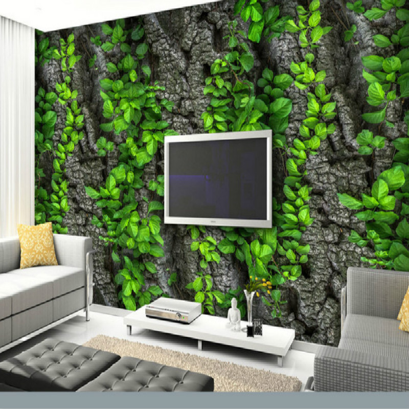 STONE vine leaves mountain large mural 3D wallpaper TV backdrop living room bedroom wall painting three-dimensional 3D wallpaper custom baby wallpaper snow white and the seven dwarfs bedroom for the children s room mural backdrop stereoscopic 3d